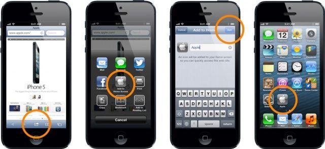 Как вернуть значок в айфоне