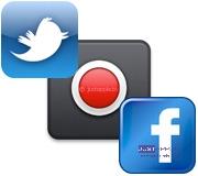 Twitter, Facebook в Notification Center