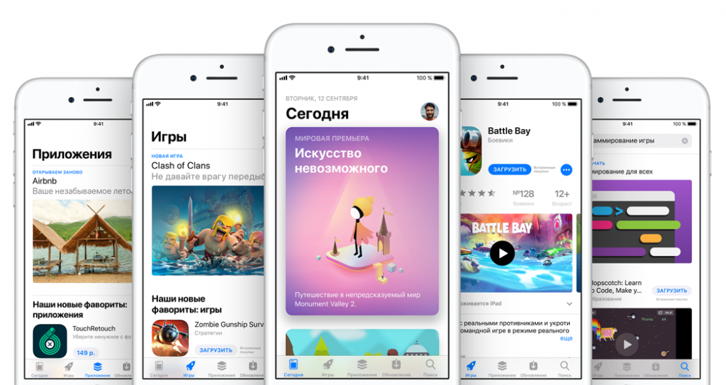 Пользователи iPhone чаще скачивают платные приложения.