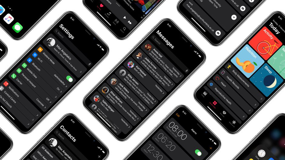 Какой может быть темная тема в iOS 13?