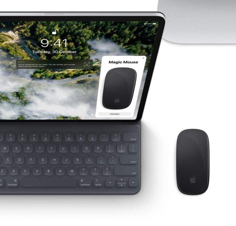 iPad получит поддержку мыши.