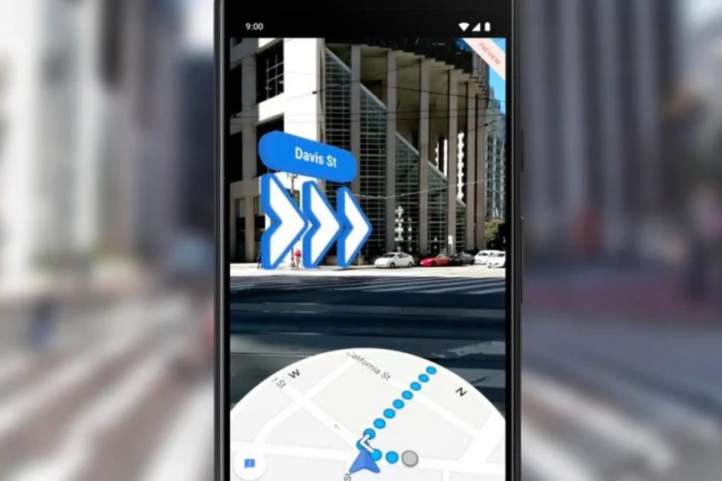Google Maps Live View доступен на iOS.